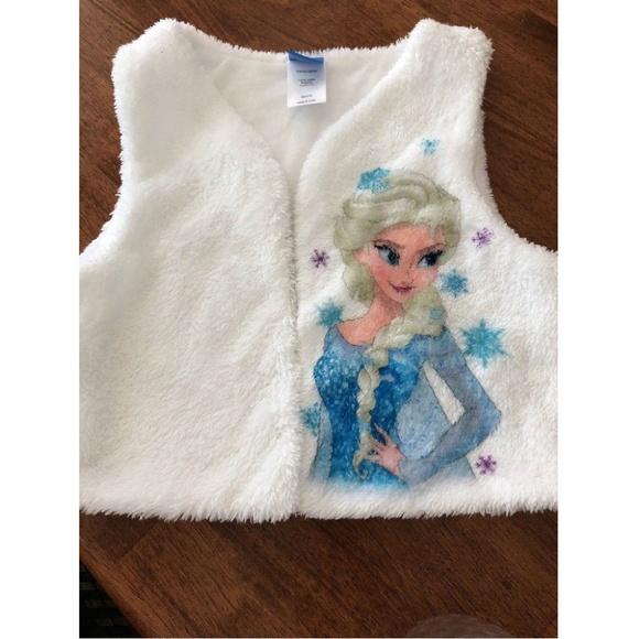 740a75b3e1b5 Disney Girl s Soft Vest White Size M 10-12